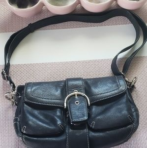 coach black leather Soho bag